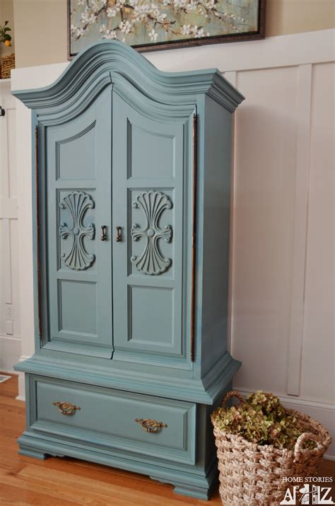 Blue Armoire by Chalk Paint Armoire On Armoires