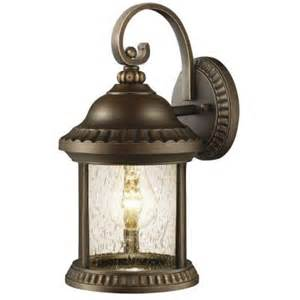 Home Depot Patio Lights Hton Bay Cambridge Collection 1 Light Outdoor Essex Bronze Small Wall Lantern Gem1689as 2