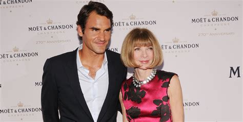 Wintours New Best Friend Roger Federer Of Course by Photos Moet Chandon S 270th Anniversary
