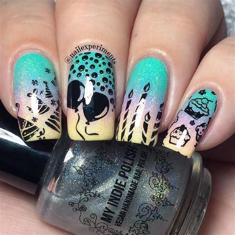 birthday themed nails nail experiments celebrating one year older birthday
