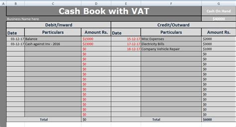 vat spreadsheet template book with vat excel template free xlstemplates