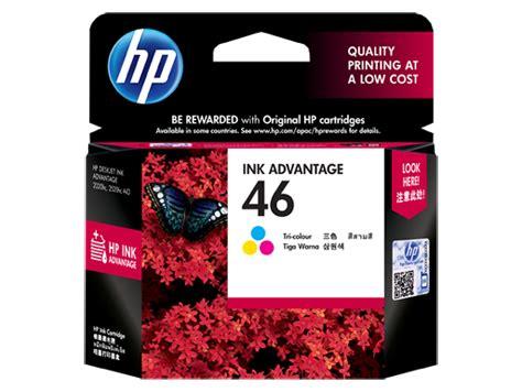 Cartridge Hp 46 Color Original hp 46 tri color original ink advantage cartridge cz638aa