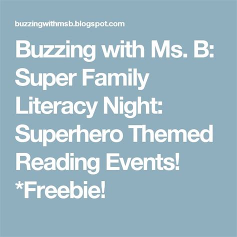 Buzzing With Ms B - 121 best images about family reading themes on