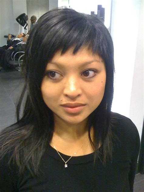 hairstyle in back in front slant 122 best images about bangs ftw on bangs
