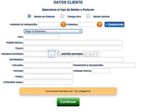 tencia 2015 imprimir recibo df omnibus de mexico facturaci 243 n de boletos