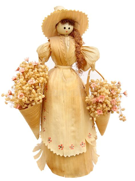 corn husk doll images corn husk doll stock image image of handmade isolated