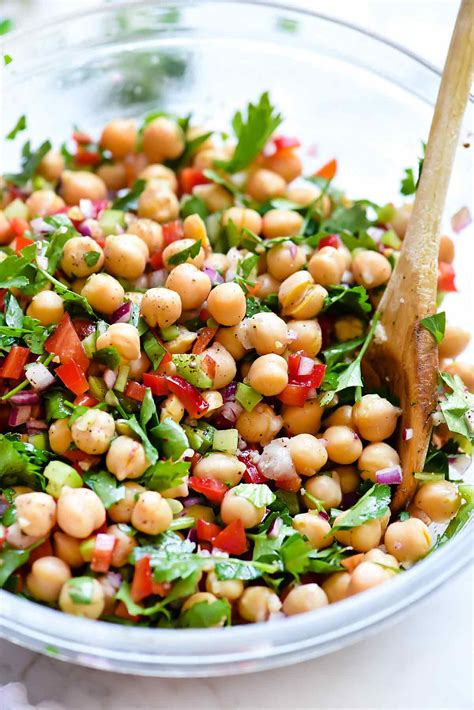 chickpea salad outrageous herbacious mediterranean chickpea salad