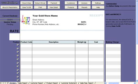 shop receipt template gold shop receipt template invoice software