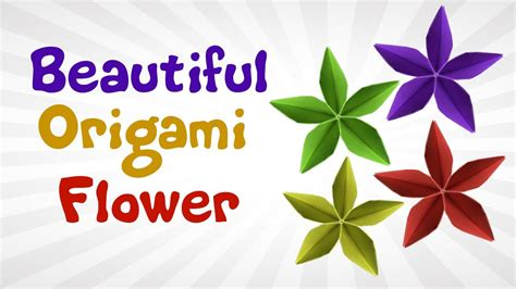 beautiful origami flower easy diy origami flowers for