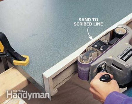 How To Scribe Countertop by How To Scribe For A Fit The Family Handyman