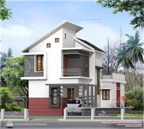 low budget house plans in kerala slope roof low cost home design sq ft bedroom villa in cents plot kerala home