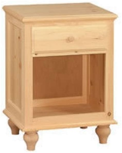 Woodcraft Unfinished Furniture woodcraft cottage one drawer stand unfinished