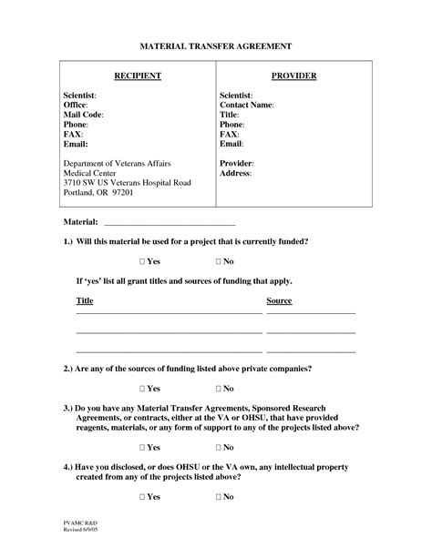 material transfer agreement template 10 best images of transfer of assets agreement transfer