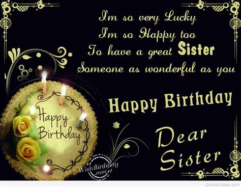 Happy Birthday Dear Quotes Dear Sister Happy Birthday Happy Birthday Myniceprofile Quotes
