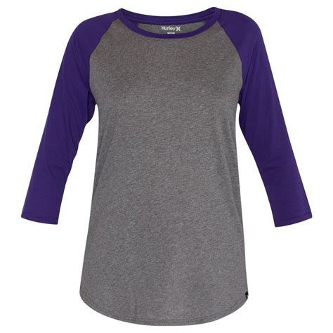 T Shirt Reglan Hurley hurley womens staple raglan sleeve t shirt