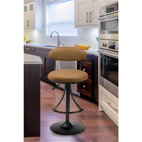 Hillsdale Venus Bar Stool by Hillsdale Furniture Venus Adjustable Height Black Powder