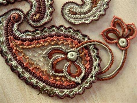 crochet paisley motif pattern free paisley crochet motifs pinterest