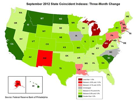 map of america states philadelphia historical maps state coincident indexes philadelphia fed