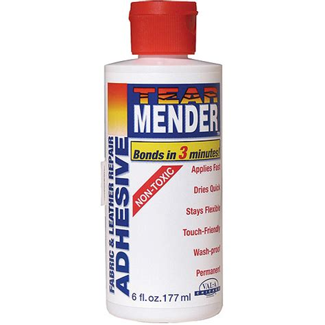 Leather Upholstery Glue by Tear Mender Fabric Leather Adhesive 6 Oz Walmart