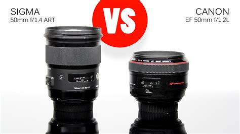 Canon Fixed Lens Ef50f1 8ii Stm lens comparison sigma 50mm f 1 4 vs canon 50mm f 1 2l