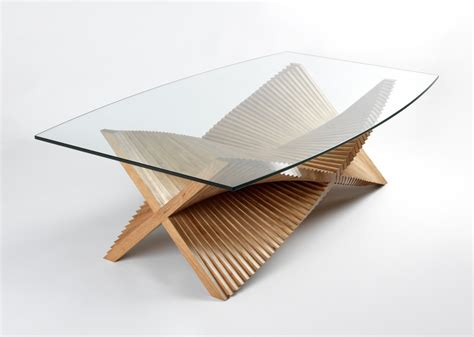 Handcrafted Tables - beating wings sculptural coffee table handmade