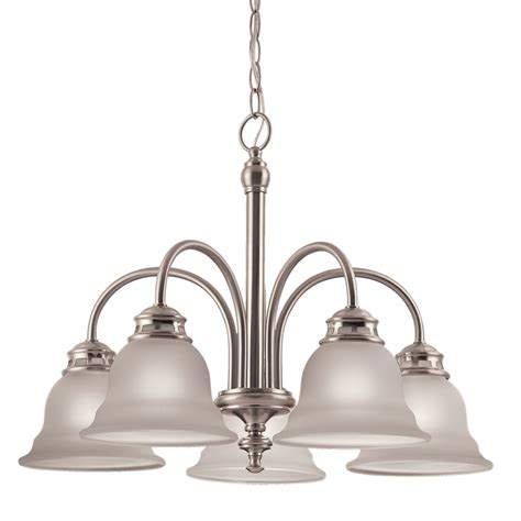 brushed nickel pendant light lowes shop project source fallsbrook 5 light brushed nickel