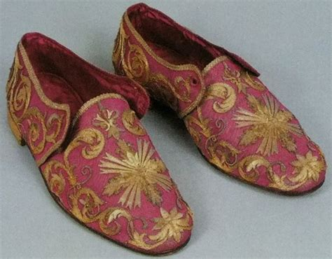 papal slippers shoes from a pope with gold embroidery gold embroidery