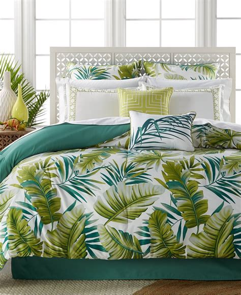 hawaiian bedding tropical palm leaves bedding set bed in a bag
