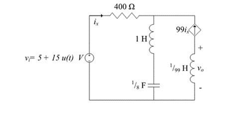 energy stored in inductor in steady state capacitor steady state rlc circuit with dependent current source electrical engineering