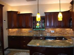 kitchen ideas with cherry cabinets cherry rope kitchen cabinets home design traditional