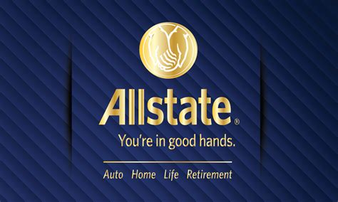blue allstate business card design 201112