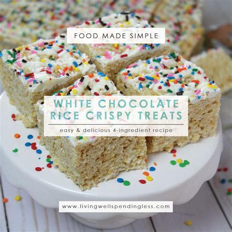 white chocolate rice crispy treats how to make rice crispy treats