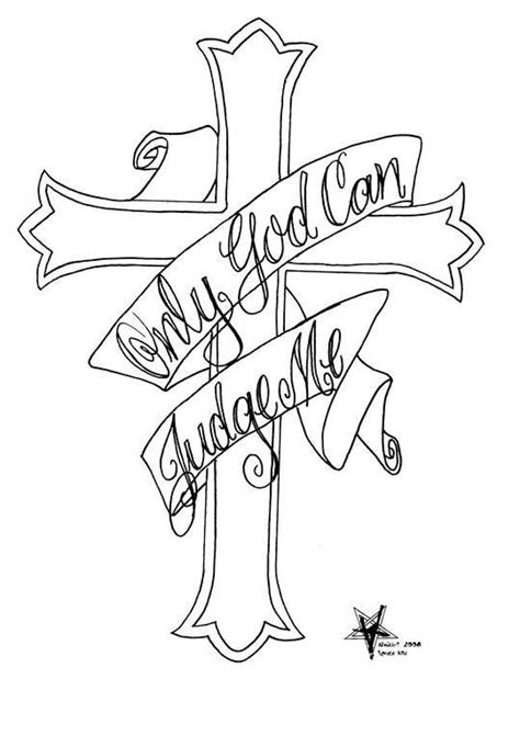only god can judge me tattoo with cross cross quot only god can judge me quot diy pages