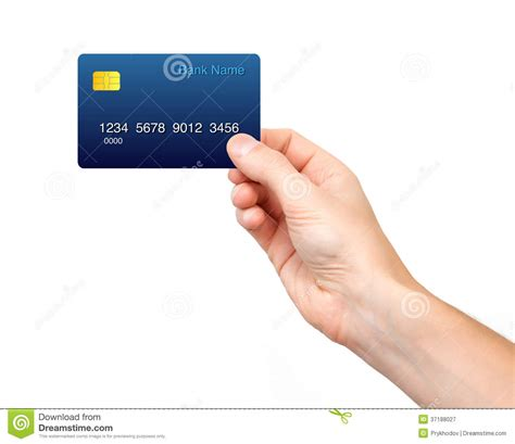 Holding Credit Card Template Isolated Holding A Credit Card Royalty Free Stock Photography Image 37188027