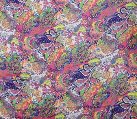 fabric crafts satin paisley digital print fabric satin silk blend dressmaking