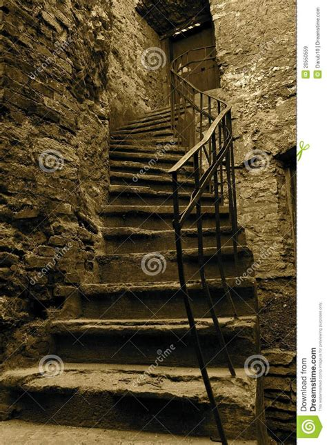 Brick House Plans by Old Stairs Royalty Free Stock Images Image 20550559