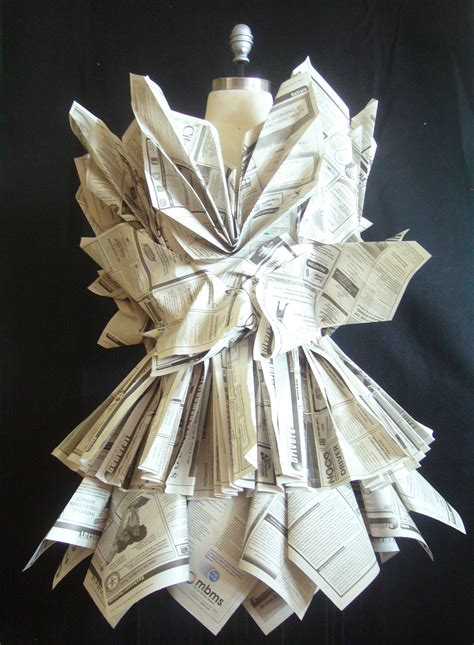 How To Make Clothes From Paper - newspaper dress vmcfashion