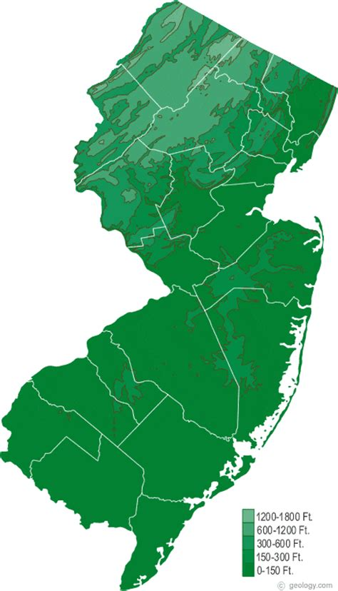 new jersey state map map of new jersey