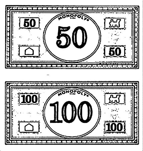 monopoly money colors monopoly money coloring page wecoloringpage coloring home