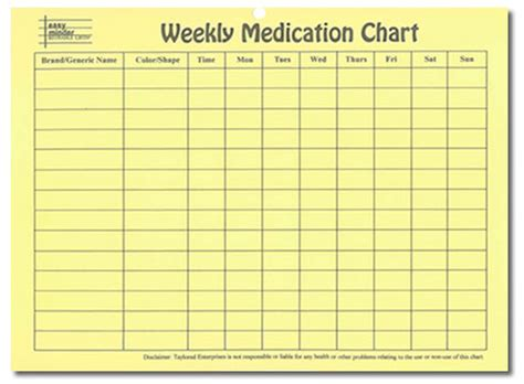 daily medication schedule template search results for daily medicine chart printable