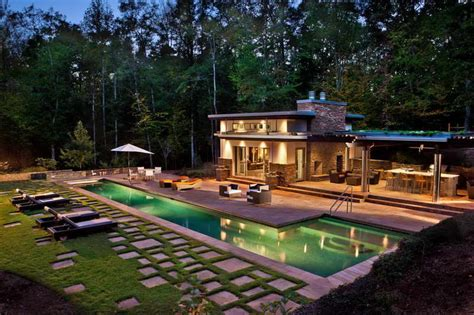 ideas for small houses backyard pool house plans pool