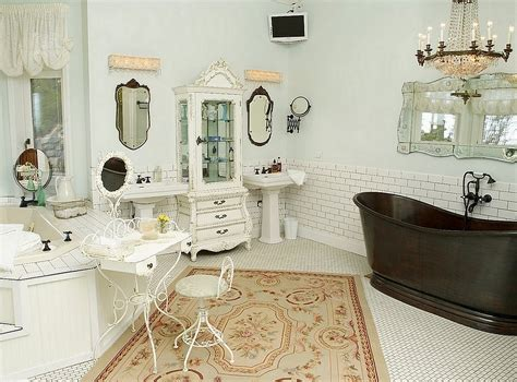 Shabby Chic Bathroom Lighting A Shabby Chic Bathroom