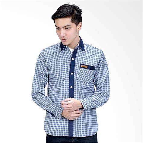 Kemeja Panjang Shirt Kasual Pria Biru Cbr Six Dkc 217 Original 1 jual azzuraa kemeja panjang pria biru 584 14 harga kualitas terjamin blibli