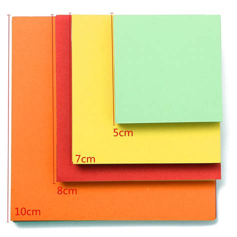 What Size Is Origami Paper - 4 size 5 7 8 10cm origami square paper sided