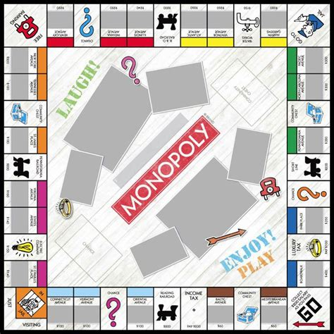 custom monopoly board template driftwood monopoly custom personalized vacation