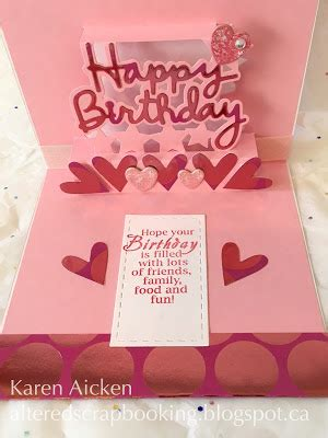 how to make a pop out card altered scrapbooking metallic happy birthday pop up card