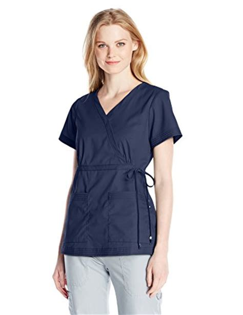 Mock Two Fit Top koi s katelyn easy fit mock wrap scrub top with