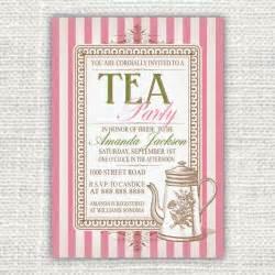 vintage inspired printable tea invitation 10 00 via etsy tea ideas