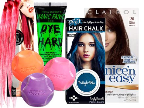 temporary hair dyes