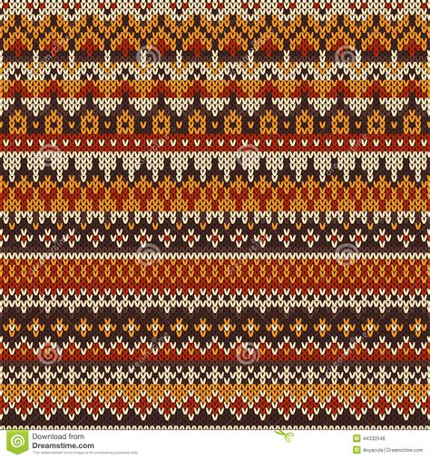how to start fair isle knitting seamless knitted pattern in fair isle style stock vector